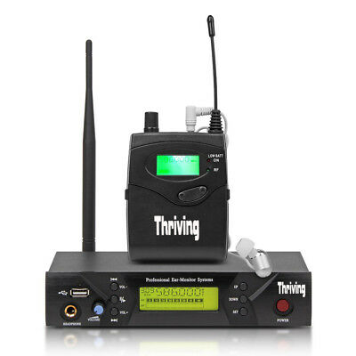 Pro Audio UHF Wireless In Ear Monitor System 50 Channels Stage Studio Monitoring