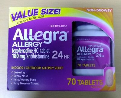 Allegra Allergy 24 HR Relief Tablets 180mg 70 tablets