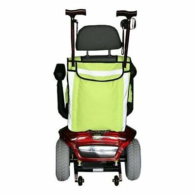 HIGH VISIBILITY MOBILITY SCOOTER BAG- WHEELCHAIR BAG - WALKING STICK CARRIER by