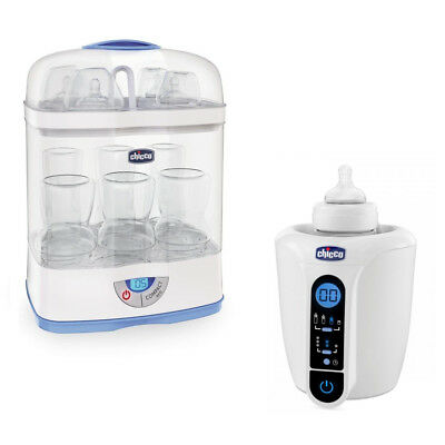 Combo CHICCO Sterilizer SterilNatural 3in1 Digital + Bottle warmer Digital