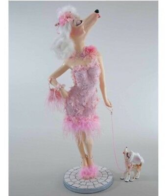 "Katherine's Collection 32"" Pink Fifi Goes To Paris Poodle Figurine Doll Display"