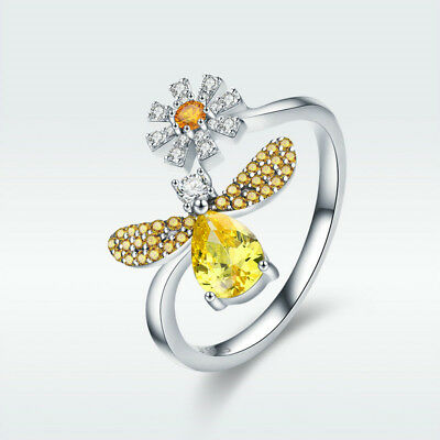7bac2b3ce36db HONEY BEE DAISY 925 Sterling Silver Ring Thumb Finger Toe Wrap Adjustable  Band