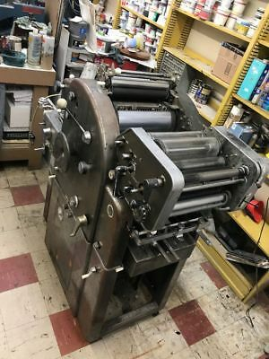 AB DICK 360 - CHAIN DELIVERY - With  T-HEAD  (Runs) - Offset Printing Press
