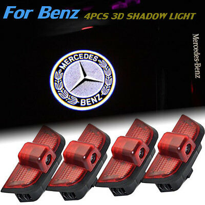 4X Ghost Car Door CREE LED Logo Welcome Light Laser Shadow for Benz C-Class W204