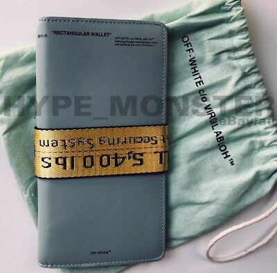 Off-White c/o Virgil Abloh - Mint Green Tall Bi-Fold Wallet OW Off White Leather
