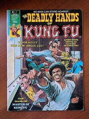 Deadly Hands Of Kung Fu #3 Vf+ 1974 Neal Adams Iron Fist  Magazine