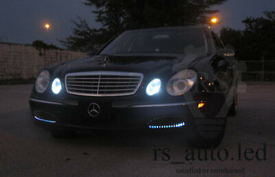 2x T10 BULBS 9 SMD LED SIDELIGHTS CANBUS WHITE MERCEDES E CLASS W211 2002-2008