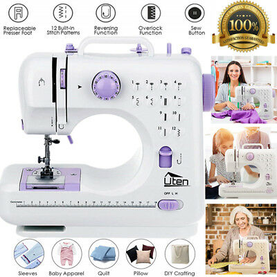 Portable Mini Sewing Machine 12 Stitches Multifunction Electric Household LED