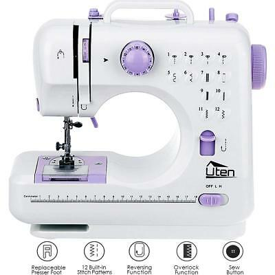 Electric Multifunction 16 Stitches Sewing Machine 2 Speed Overlock Household