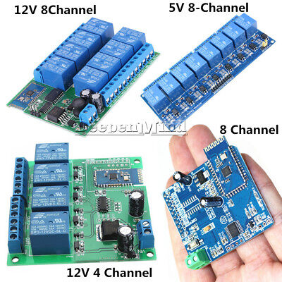 12V 4/8CH Bluetooth Android Relay Board Wireless Control Remote+Switch Module