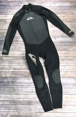 4b27fbcc77 quicksilver mens wetsuit Size Large Black Surfing Diving Storm Proof Org   129
