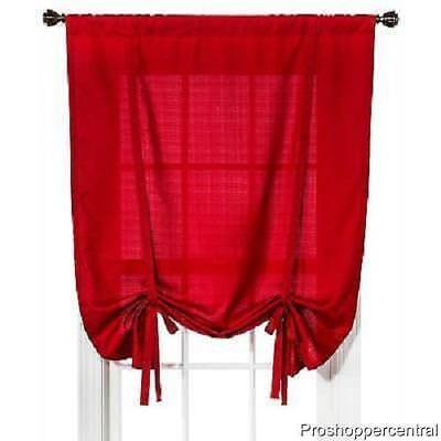 Room Essentials Chesapeake Tie-Up Shade - Red (42x63)