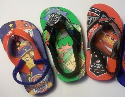 Toddler -sandals, flip flops. Cars, TMNTurtles, Spiderman, Paw Patrol B1g1 FREE.