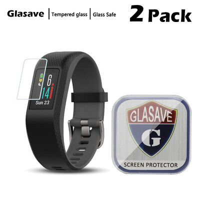 [2-Pack] Glasave Tempered Glass Screen Protector Film For Garmin Vivosport