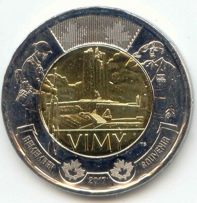 Canada 2017 Toonie Two Dollar Coin Canadian $2 REMEMBER Battle of Vimy Ridge UNC