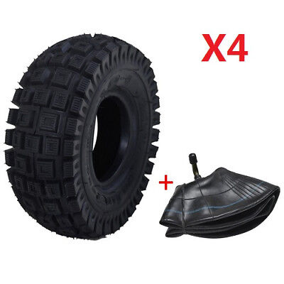 """4pc 3.00-4"""" Inch Tyre/Tires 260x85 Tubes Trolley Electric Mobility Scooter Mini"""