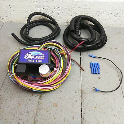 Magnificent Wire Harness Fuse Block Upgrade Kit For 55 69 Fairlane Stranded Wiring Digital Resources Bioskbiperorg