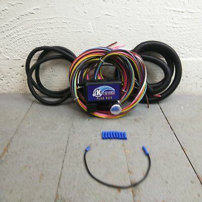 12v 18 Circuit 12 Fuse Universal Wiring Harness 20 circuit wiring harness chevy mopar ford jeep hotrods universal