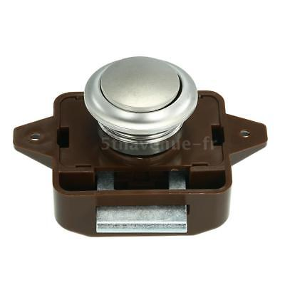 Large Push Button Cabinet Latch for Rv/Motor Home Cupboard Caravan Lock for O1K1