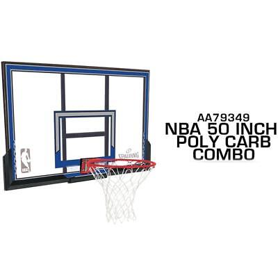 50 Inch NBA Basketball Polycarbonate Combo Backboard & Ring Set From Spalding
