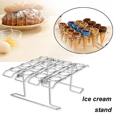 16 Cones Ice Cream Cone Holder /Iron Chip Cone Holder /Counter Top Display Stand