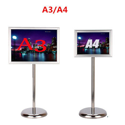 Altura Adjustable DIN A3&A4 Snap Frame Poster Menu Holder Display Stand Rack