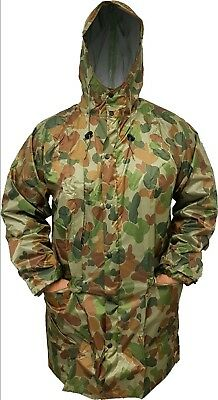 Rain Jacket Auscam With Hood 3/4 Length Taped Seams S / L / Xl / Xxl - T.a.s.
