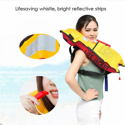 Fishing Life Jacket Swiming Life Vest Automatic Inflatable Top Aid Rescue Vest