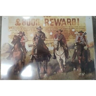 Classic Sign Ned Kelly Reward Tin Sign 50cm x 35cm FREE POST