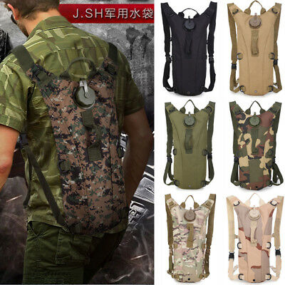 3L Water Bladder Bag Military Hiking Camping Hydration Backpack Camelback Pack