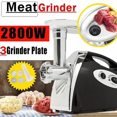 2800W Electric Meat Grinder Mincer & Sausage Maker Machine Stainless Heavy Duty