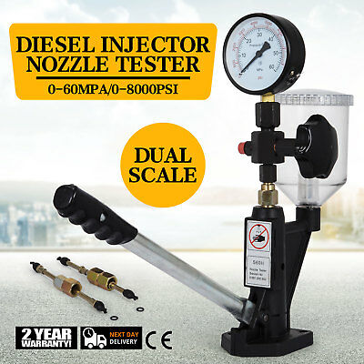 Diesel Injection Nozzles Tester Device 45Mpa Dual Scale Manometer Injector Test
