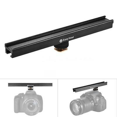 "200mm/8"" Cold Shoe Metal Extension Bar Rail Track Bracket Holder for Video H2I9"