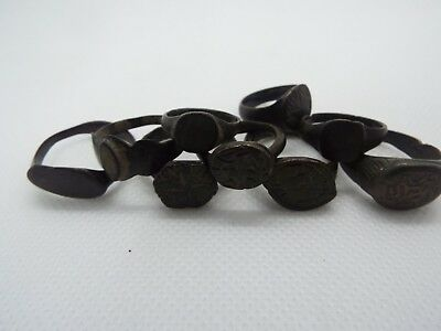 5-1  LOT of 9 Ancient Roman and Byzantine Bronze Ring.