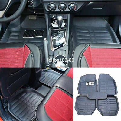 5pcs Universal Car Auto Floor Mats FloorLiner Front &Rear Carpet All Weather Mat