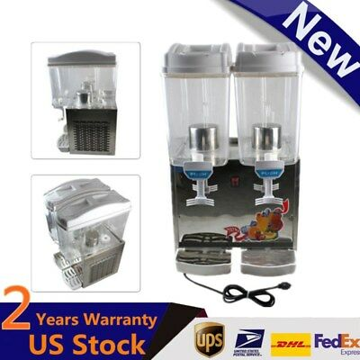 Commercial Double Tanks 17 Litre Cold Drink Milk Juice Spray Dispenser Stainless