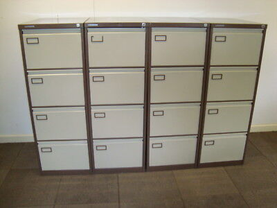Metal 4 drawer office filing cabinet. For foolscap suspension files.