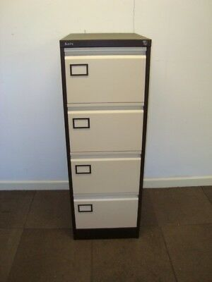 Metal 4 drawer office filing cabinet. For foolscap suspension files