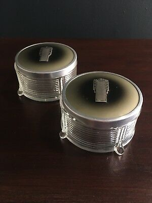Antique - Pair of Art Deco Dressing Jars, Crystal/Glass, Enamelled