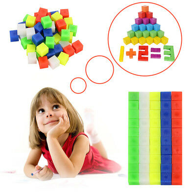 50PCS Counting Centimetre Cubes 1cm coloured maths volume Learning resources''