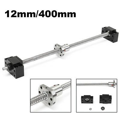 Antibacklash SFU1204 L400mm Ball Screw 12mm BK/BF10 With Single Ballnut For CNC