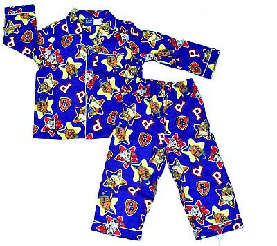 New Size 1-5 Kids Pyjamas Winter Flannel Paw Patrol Boys Sleepwear Shirt Child