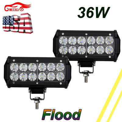 "2Pcs 9-32V 6000K 7"" LED CREE Car SUV 4X4 Working Lights Flood Lamps Waterproof"