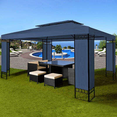 pavillon 3x4m garten pavilon pavillion partyzelt gartenzelt opt moskitonetz neu eur 199 00. Black Bedroom Furniture Sets. Home Design Ideas