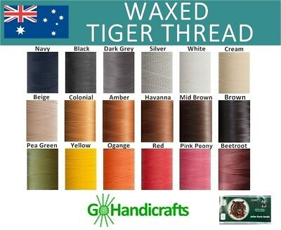 The Very Best Julius Koch Waxed Tiger Thread Hand Sewing Leather Craft Lays Flat