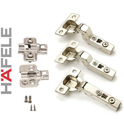 Hafele Hinges Set /Kitchen Cupboard Wardrobe Cabinet Steel/ Clip-On x10 x20 x30