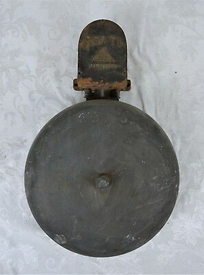 Rare Antique 19th Century Electric Industrial School Fire Alarm Bell Recti 1872