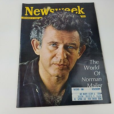 NEWSWEEK MAGAZINE December 9 1968 The World of Norman Mailer Vintage Issue Ads