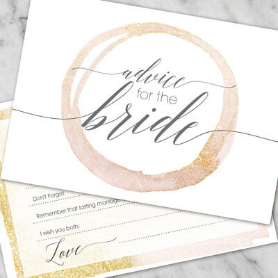 Hen Party Accessories Advice To The Bride Hen Party Games Cards Wisdom Words x10