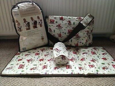 Baby Accessories Bundle Cath Kidston Changing Bag and Bruin 4 Way Baby Carrier